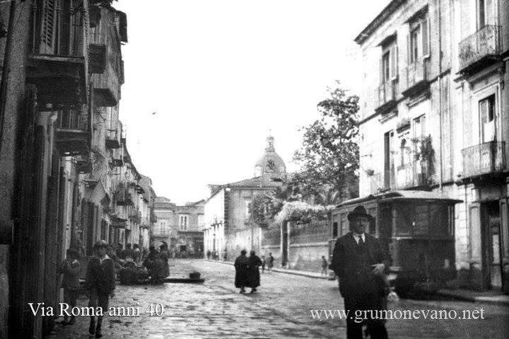 Foto storiche di Grumo Nevano – Via Roma –