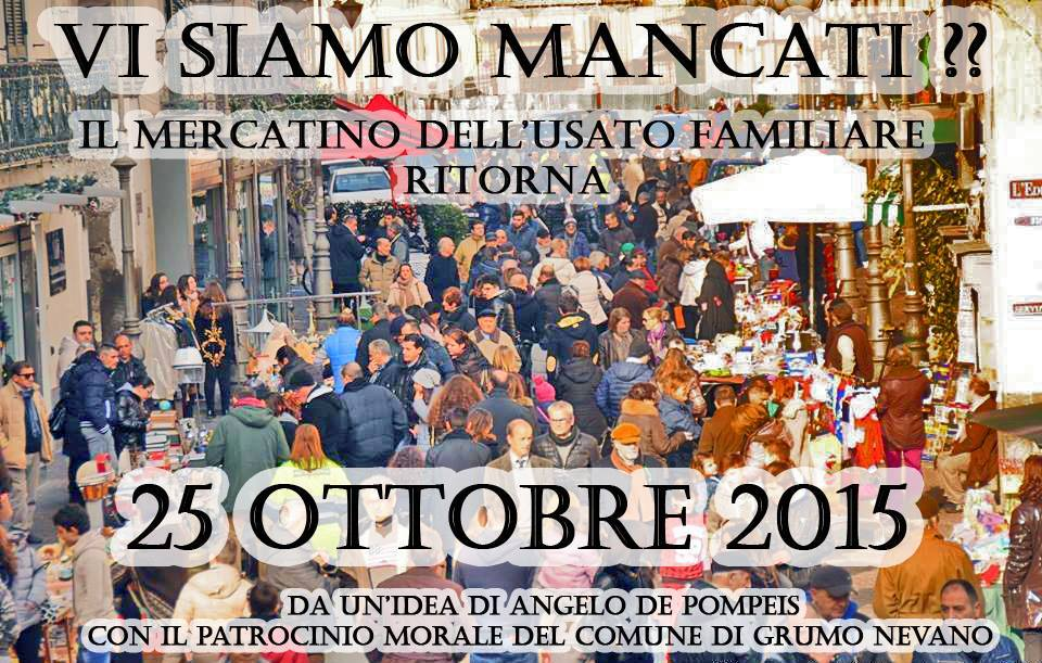 Il Mercatino Familiare Ritorna Il 25 Ottobre, le iscrizioni sono aperte!