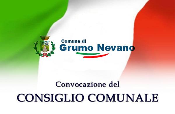Grumo Nevano, CONVOCAZIONE CONSIGLIO COMUNALE in sessione ordinaria per il 13.12.2017 ore 19,00 in prima convocazione e per il 15.12.2017 ore 19,00 in seconda convocazione