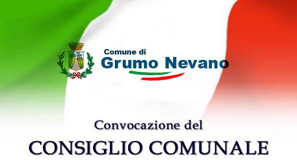 CONVOCAZIONE CONSIGLIO COMUNALE, per giovedì 2 febbraio 2017, alle ore 19,30, in seduta di prima convocazione.