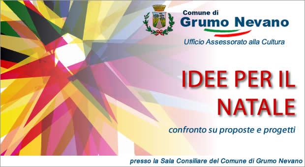 CHIAMATA DI IDEE PER IL NATALE  II CONVOCAZIONE – VENERDI' 30 Ottobre 2015 alle ore 14:30.