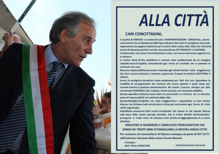 """Intervista del Sindaco su Nano TV – """"Grumo Nevano, Scontro maggioranza-opposizione: parla il Sindaco Chiacchio"""""""