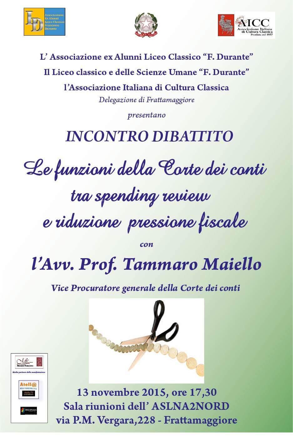 Venerdi 13 novembre ore 17.30, sala riunioni ASL napoli 2 nord via P.M. Vergara 228 Frattamaggiore