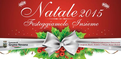 PROGRAMMA FESTIVITÀ NATALIZIE, promosso dall'Amministrazione Comunale.