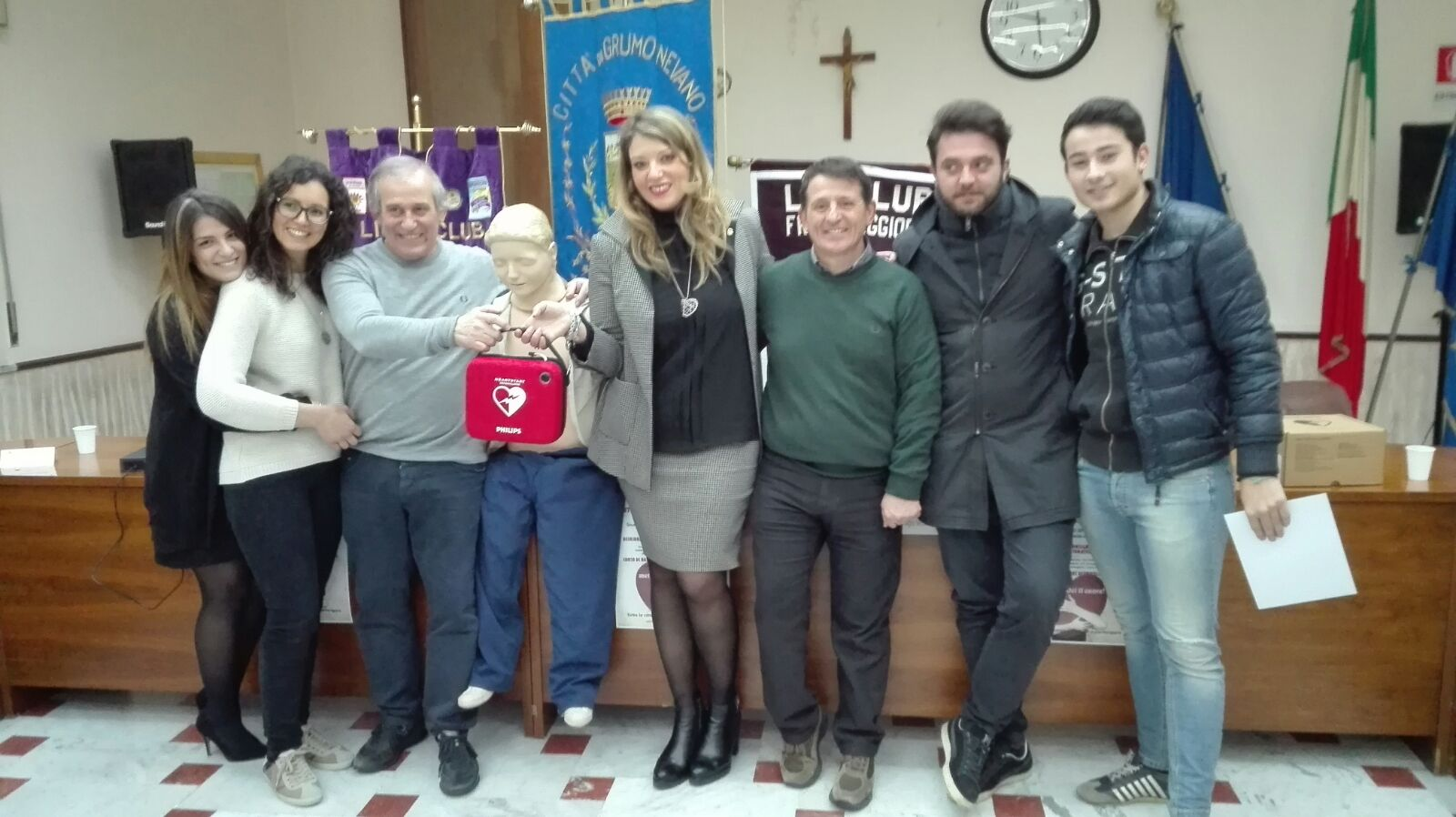 Galleria fotografica, Consegna defibrillatore alla città da parte del Lions Club Frattamaggiore