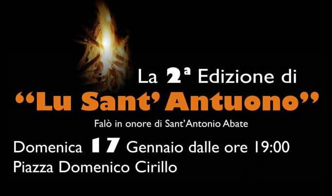 """Grumo Nevano II Edizione """"LU SANT'ANTUONO"""", Domenica 17 Gennaio 2016."""