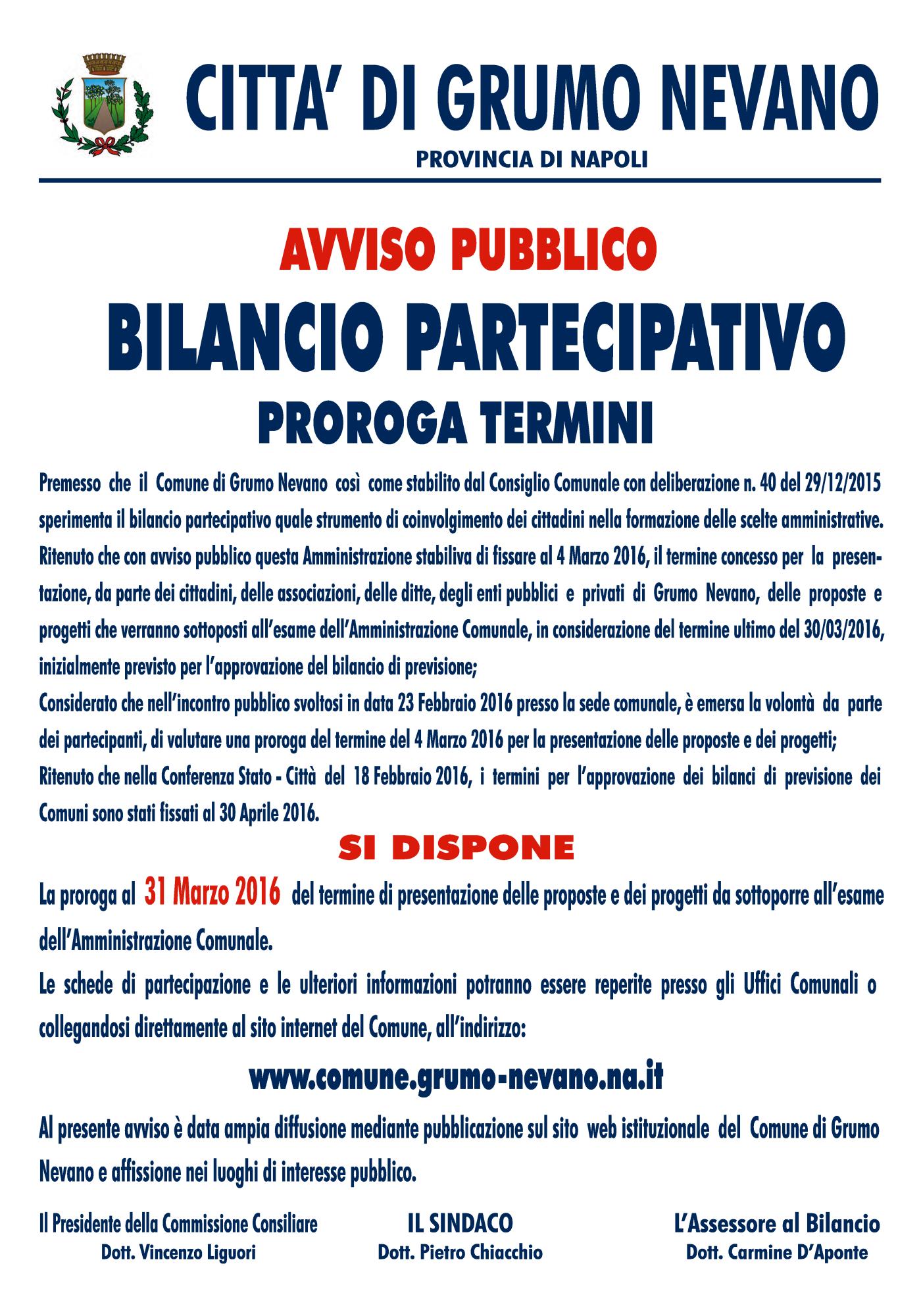 Manifesto Comune Grumo Bilancio_proroga2