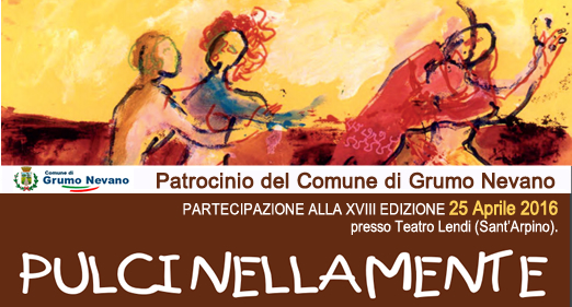 Teatro-Scuola PULCINELLAMENTE, 25 Aprile 2016, patrocinio del Comune di Grumo Nevano.