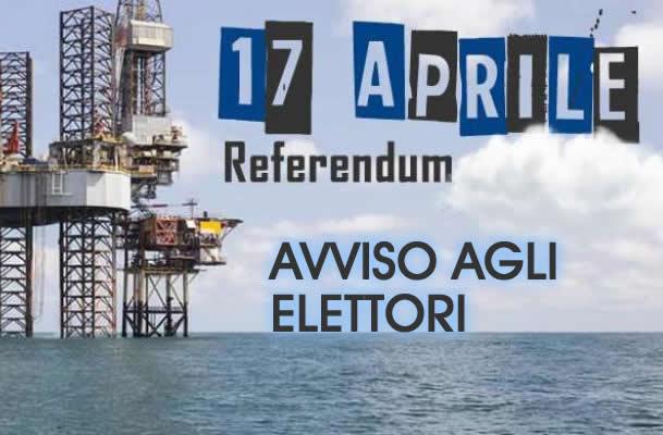 Grumo Nevano, REFERENDUM POPOLARE DEL 17 APRILE 2016 – AVVISO AGLI ELETTORI –