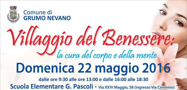 L'Amministrazione Comunale per il 22 Maggio organizza il Villaggio del Benessere, la cura del corpo e della mente – Giornata dedicata alla prevenzione