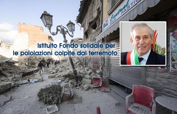 TERREMOTO ITALIA CENTRALE, L'AMM.NE CHIACCHIO istituisce il fondo solidale per le popolazioni colpite.