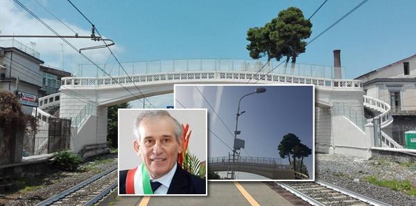 Ponte Pedonale, in corso installazione di TELECAMERE e PUBBLICA ILLUMINAZIONE