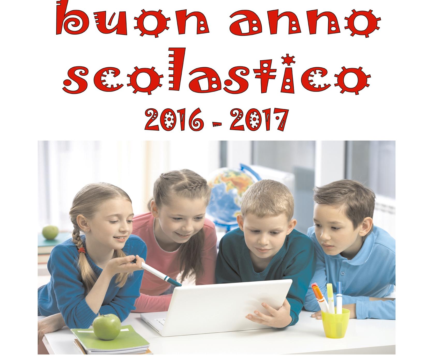 ANNO SCOLASTICO 2016-17.Gli AUGURI del SINDACO, dell'Assessore SCARANO e dell'Amministrazione tutta.