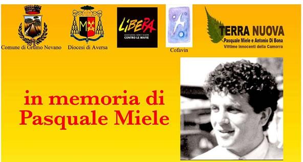 Marcia della legalità: (Ri)inagurazione stele della memoria, SABATO 5 NOVEMBRE CON PARTENZA ALLE ORE 9,30 DA PIAZZA PASQUALE MIELE