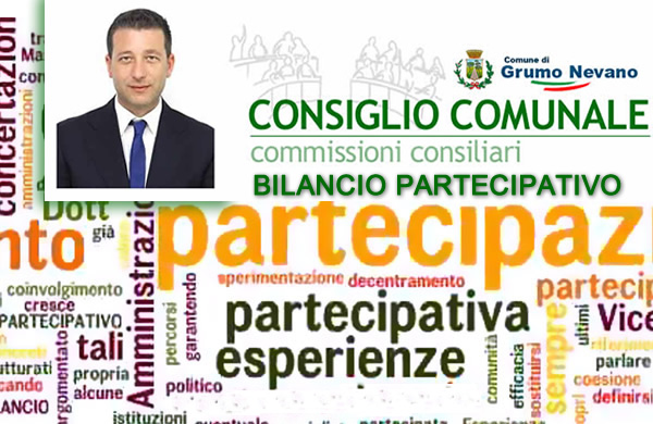 Grumo Nevano, convocazione PRIMA COMMISSIONE argomento, BILANCIO PARTECIPATIVO.