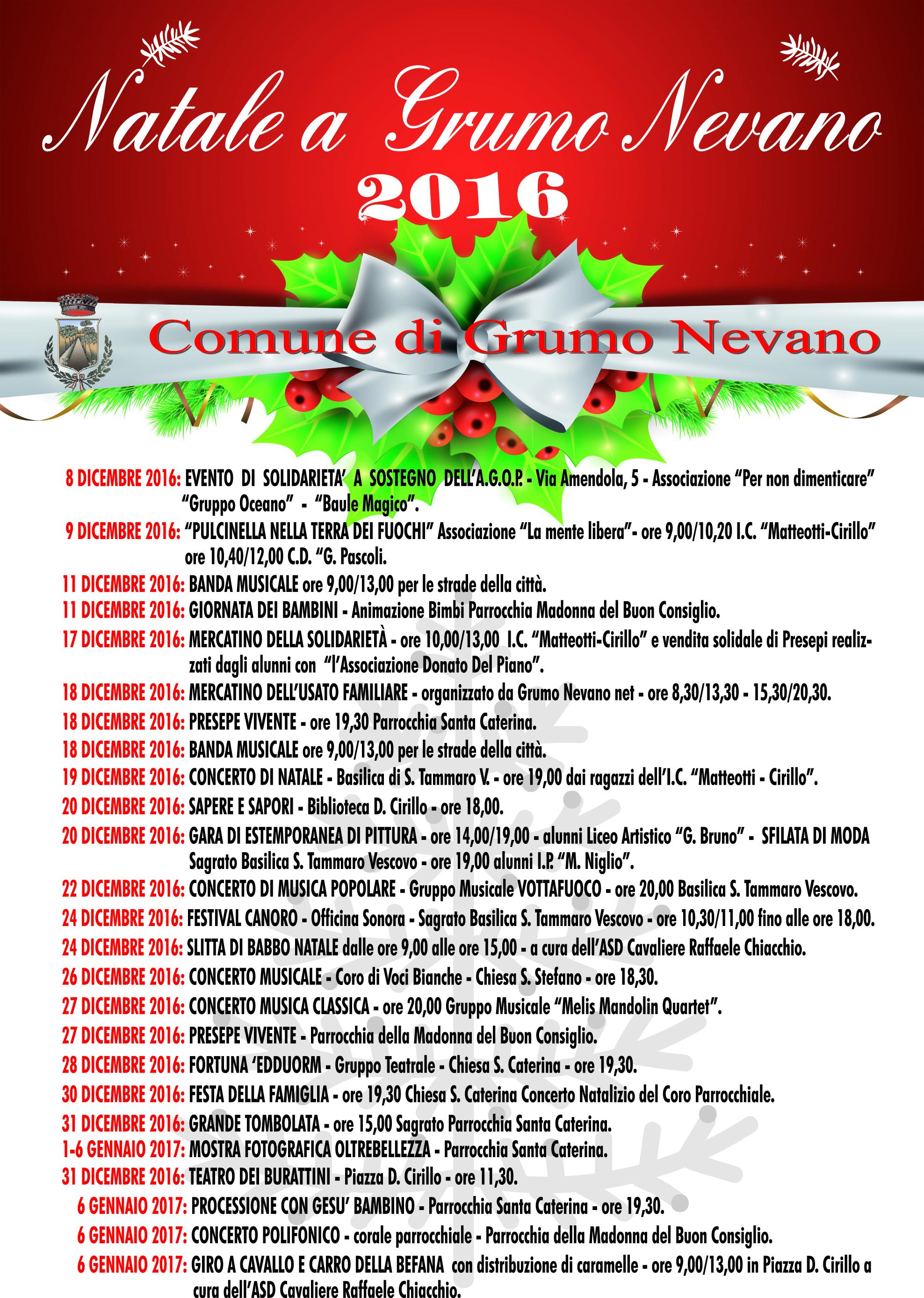 Manifesto Comune Grumo Natale