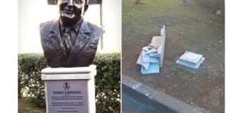 Solidarietà dell'Amministrazione di Grumo Nevano al Sindaco di Frattamaggiore, per il furto del busto bronzeo dello storico Capasso, da poco collocato