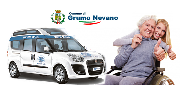 Grumo Nevano, orari e modalità, servizio di trasporto sociale degli anziani non autosufficienti, PROGETTO LIBERI DI ESSERE-LIBERI DI MUOVERSI
