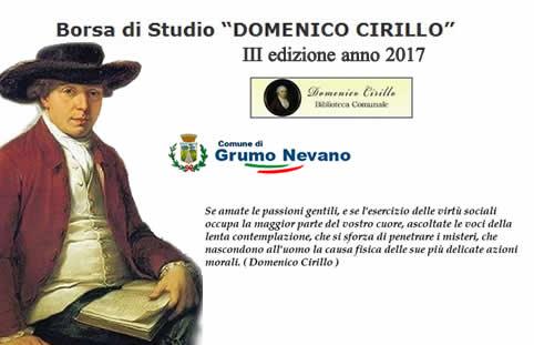 """Grumo Nevano, borsa di Studio """"DOMENICO CIRILLO"""" III Edizione anno 2017 ."""