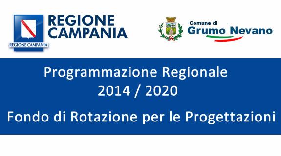 Fondo di Rotazione Regione Campania, Grumo Nevano ottiene I FINANZIAMENTI PER LA PROGETTAZIONE DI OPERE, ecco la graduatoria.