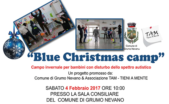 BLUE CHRISTMAS CAMP, campo Invernale per bambini autistici – SABATO 4 Febbraio, presentazione documentario ed attività svolte,