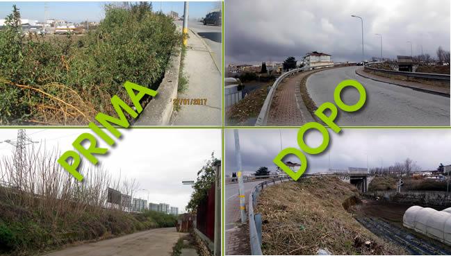Grumo Nevano, pulizia TRATTO STRADALE con relativa pertinenza, ambo i lati, zona Ponte Grumo Nevano – S'Arpino.