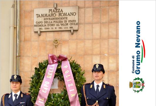Grumo Nevano, 4 Aprile 2017 programma commemorazione Sovrintendente Capo Polizia di Stato Tammaro Romano