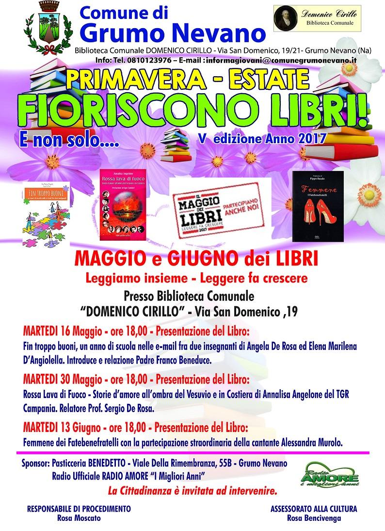 Manifesto Biblioteca Fioriscono libri