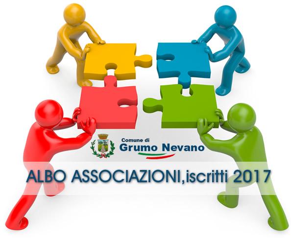 Grumo Nevano, ALBO ASSOCIAZIONI, ELENCO ISCRITTI 2017-COMUNE DI GRUMO NEVANO