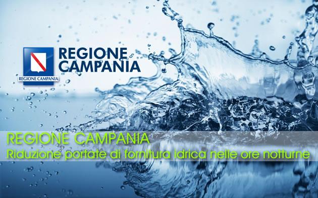 Grumo Nevano, AVVISO dalla REGIONE CAMPANIA – Riduzione portate di fornitura idrica nelle ore notturne