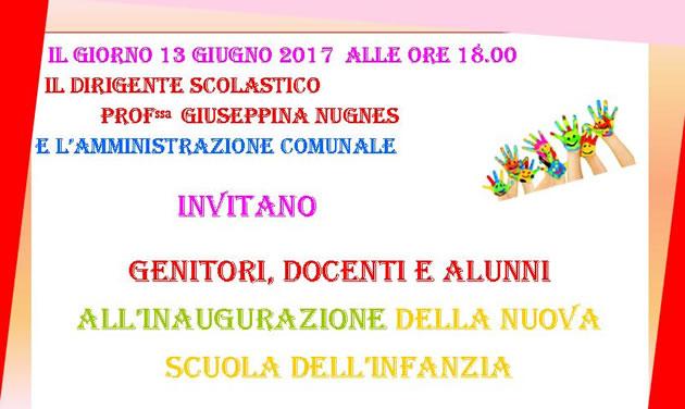 Grumo Nevano, domani 13 GIUGNO 2017 ore 18.00, inaugurazione NUOVA SCUOLA DELL'INFANZIA presso la sede di Via Quintavalle