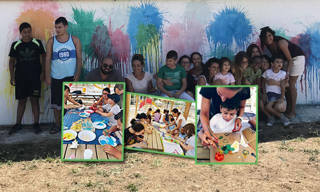 E … State a Grumo, Campo Estivo per bambini e ragazzi autistici-Presentazione attività svolte e Murales realizzato dai ragazzi