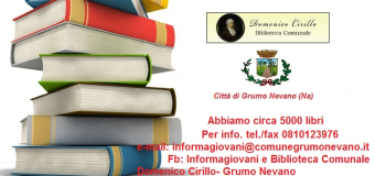 Grumo Nevano, la REGIONE CAMPANIA concede alla BIBLIOTECA COMUNALE un contributo di Euro 4.000 per l'incremento e il  miglioramento della raccolta libraria