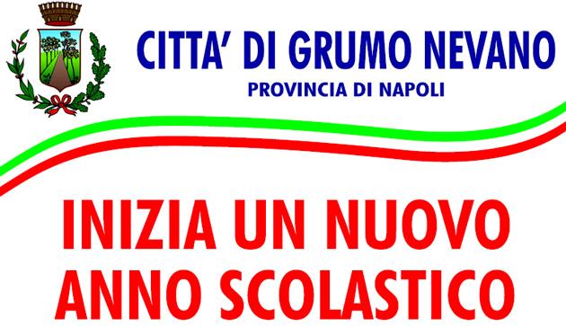 Grumo Nevano, INIZIO NUOVO ANNO SCOLASTICO, gli Auguri di Buon Lavoro del SINDACO e DELL'AMMINISTRAZIONE COMUNALE.