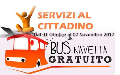 Grumo Nevano, GIORNI ed ORARI servizio di collegamento con BUS NAVETTA da e per il CIMITERO.