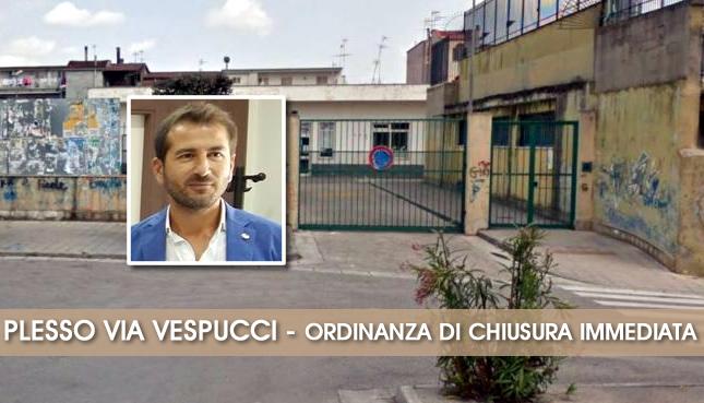 Grumo Nevano, PLESSO VESPUCCI, IL SINDACO f.f. ORDINA CHIUSURA, gravi carenze SISMICHE e STRUTTURALI.