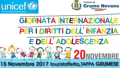 Grumo Nevano, GIORNATA UNIVERSALE DELL'INFANZIA, Mercoledi 15 Novembre 2017 tour/staffetta, TAPPA GRUMESE