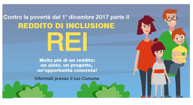 Reddito di inclusione (REI). I cittadini potranno richiederlo dal 1° dicembre 2017 presso il Comune di residenza, consulta gli orari di ricevimento dell'ufficio Politiche Sociali.