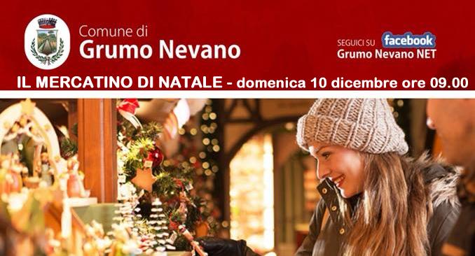 Grumo Nevano, ritorna IL MERCATINO DI NATALE, DOMENICA 10 DICEMBRE Dalle ore 9:00 alle ore 19:00