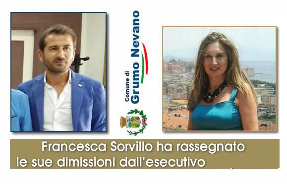 Grumo Nevano, l'assessore Francesca Sorvillo ha rassegnato le sue dimissioni dall'esecutivo.