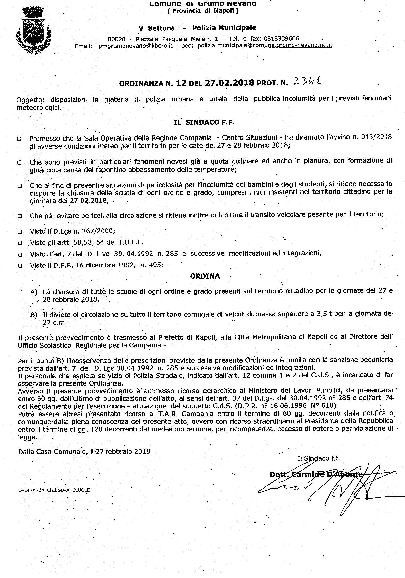 Ordinanza n. 12 del 27.02.2018 (1)