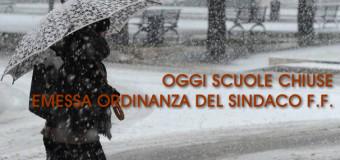 Grumo Nevano, OGGI LE SCUOLE RIMARRANNO CHIUSE, Il SINDACO f.f. Carmine D'Aponte emette ordinanza di chiusura