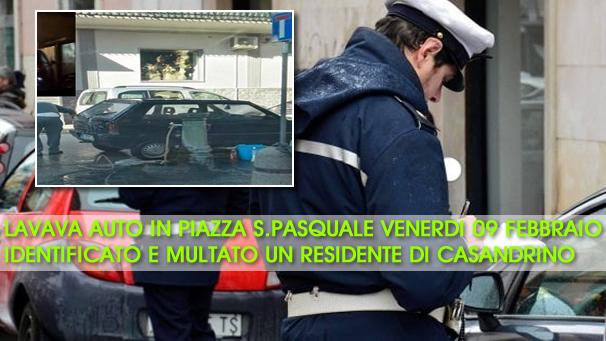 Grumo Nevano, LAVAVA LA SUA AUTO, usando una fontanina pubblica, IDENTIFICATO e MULTATO dai VIGILI.