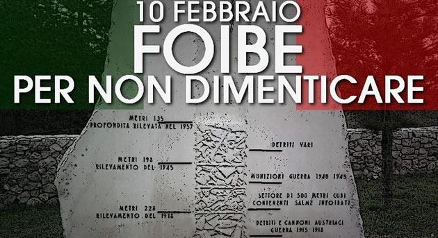 Grumo Nevano, L'Amministrazione Comunale ricorda il 10 febbraio, giornata del ricordo delle vittime delle foibe.