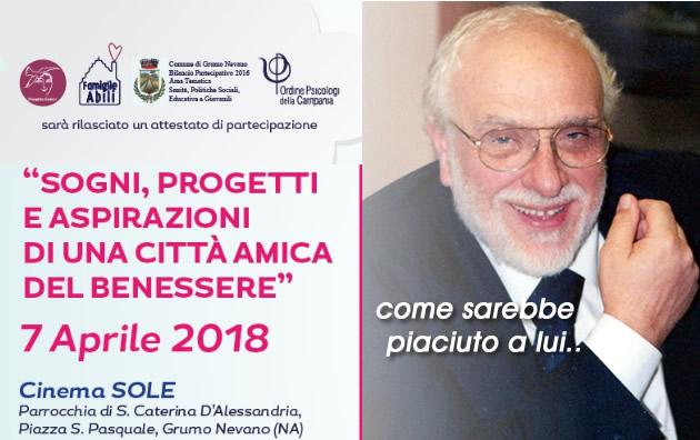 Grumo Nevano,  ricordiamo il Dott. Alfonso Rossi in un momento di riflessione al Cinema Teatro Sole, Sabato 07 Aprile 2018