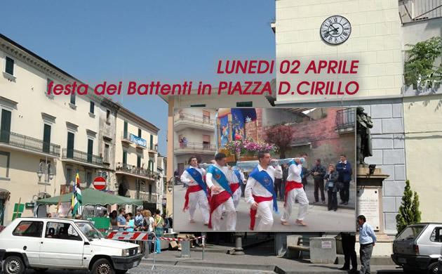 """GRUMO NEVANO  – Piazza D.Cirillo blindata per la festa dei """"Battenti'- L'Amministrazione dispone un piano traffico."""