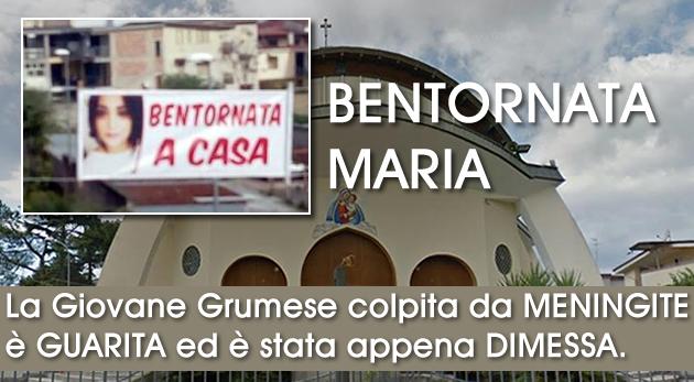Grumo Nevano, La Giovane Grumese colpita da MENINGITE è GUARITA ed è stata appena DIMESSA.