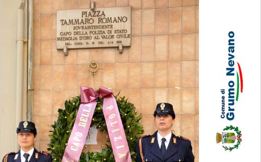 Grumo Nevano, Mercoledi 04 Aprile 2018, L'Amministrazione Comunale celebra il trentennale della scomparsa di Tammaro Romano, Sovrintendente Principale della Polizia di Stato