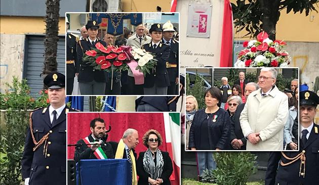 Grumo Nevano, OGGI Mercoledì 4 aprile 2018 l'Amministrazione Comunale celebra il trentennale della scomparsa di Tammaro Romano, Sovrintendente Principale della Polizia di Stato.