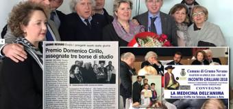 GRUMO NEVANO, Premio Domenico Cirillo, assegnate tre borse di studio.Ecco i progetti scelti dalla giuria.
